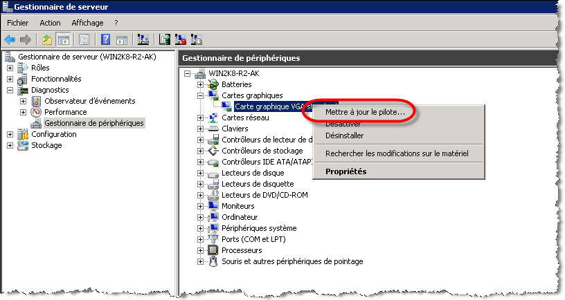 pilote carte graphique vga standard windows 7 toshiba